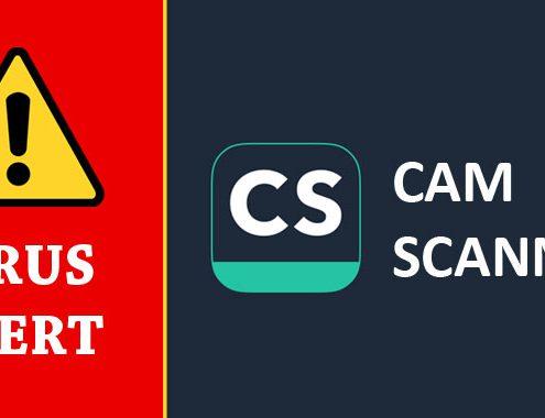 مشکل امنیتی CamScanner